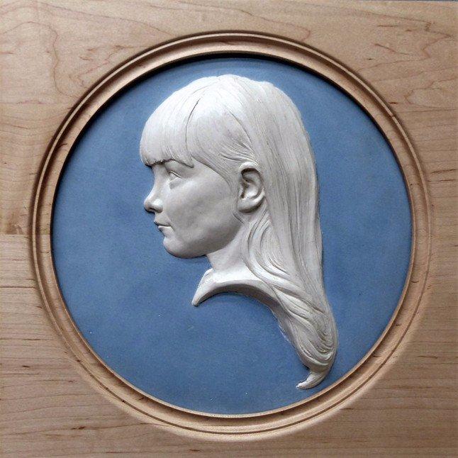 portrait sculptor, bas-relief portrait, child portrait, portrait sculpture, wedgwood head