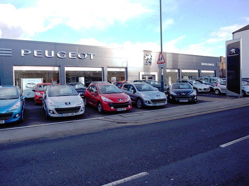 Peugeot car showroom
