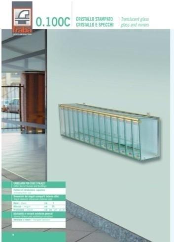 Casellario per case e palazzi: cristallo stampato, cristallo e specchi
