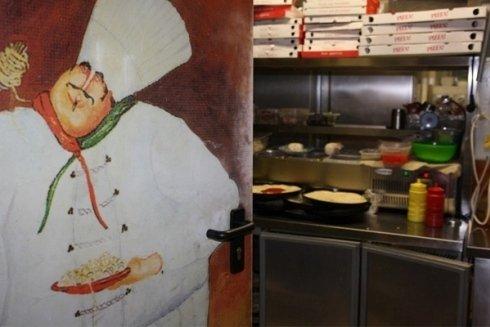 un particolare della cucina della pizzeria