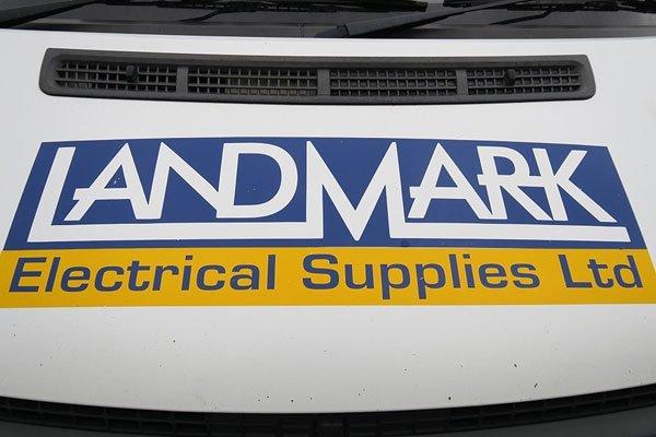 Van with logo