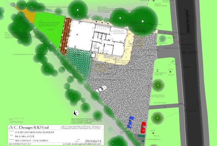 building plan of Churchdown Day Nursery