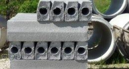 tubi di cemento, pannelli di cemento,