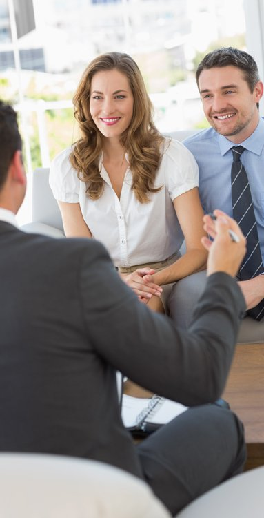 Professionals consulting the financial services