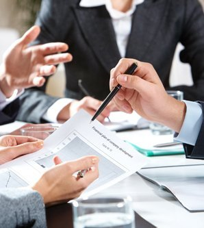 Professionals preparing financial statements