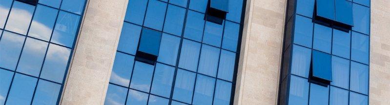 advanced glass scratch repair modern office building