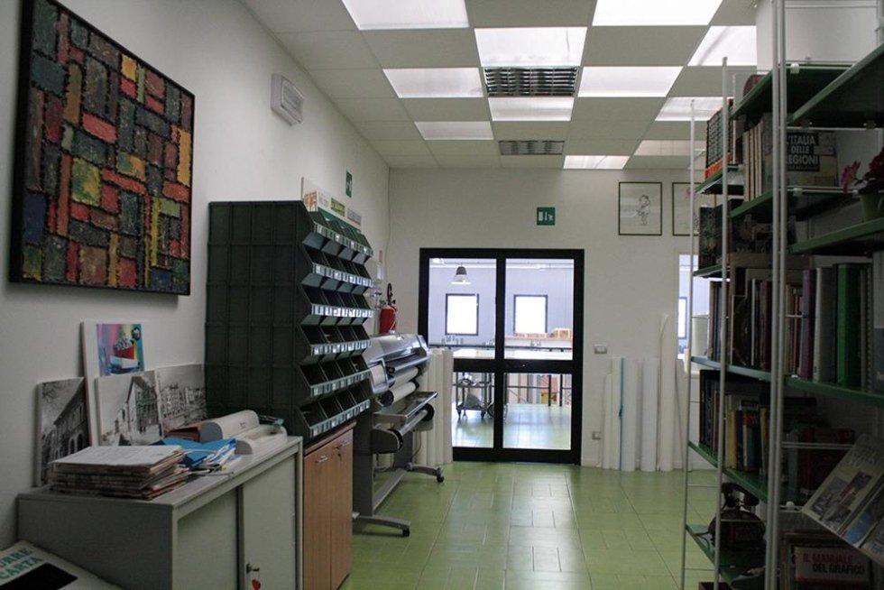 interno di una fabbrica di stampe