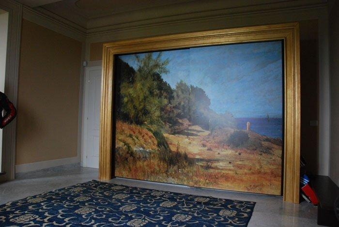 pittura della spiaggia nel telaio di legno
