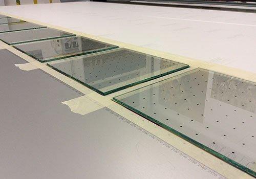 pannelli di vetro a forma quadrata