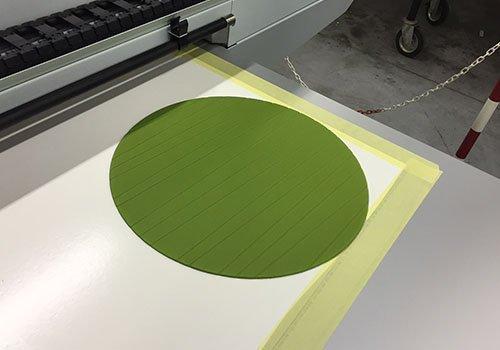 un tappetino di un mouse di color verde