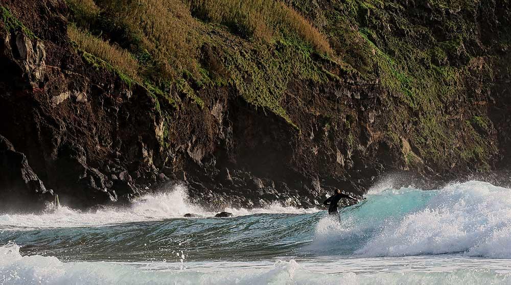 Azores bike tour surfing