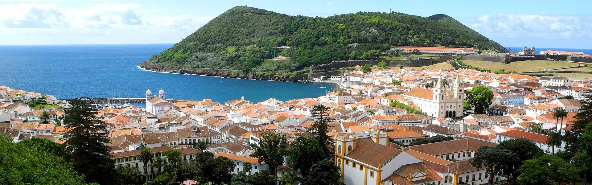 Azores bike tour town