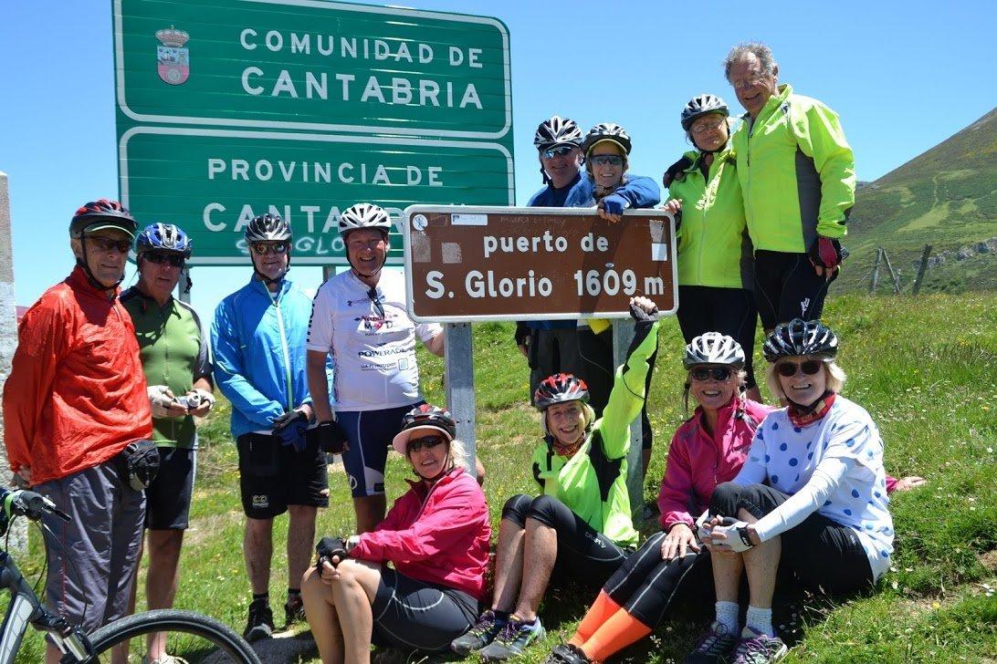 Picos de Europa bike tour group