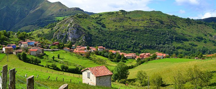 Picos de Europa Asturias Bike Tour village