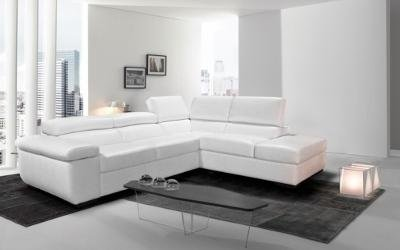 Salotto bianco angolare