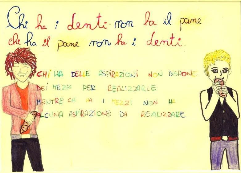 Proverbi con il pane disegnati dai bambini