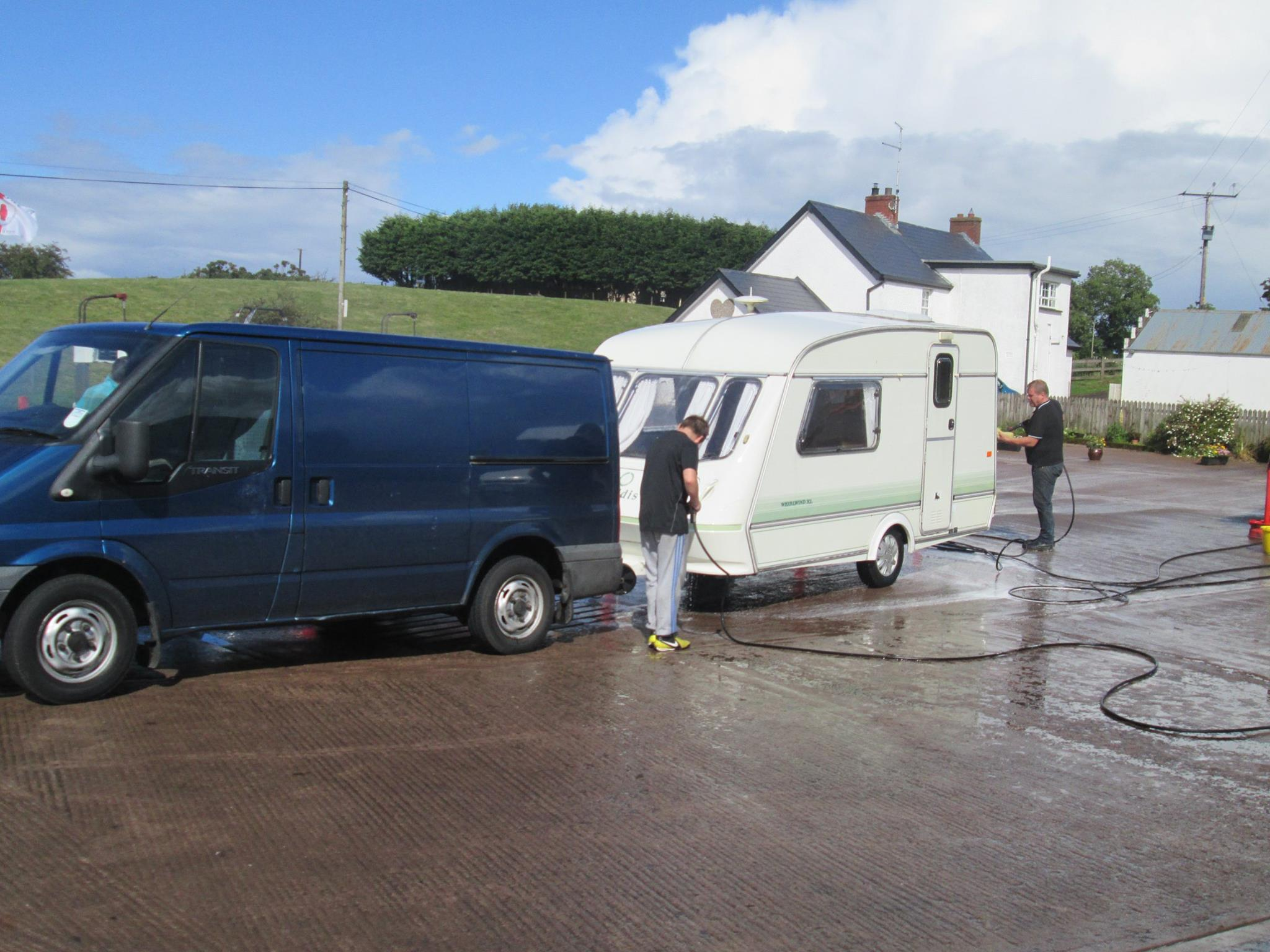Van valeting station