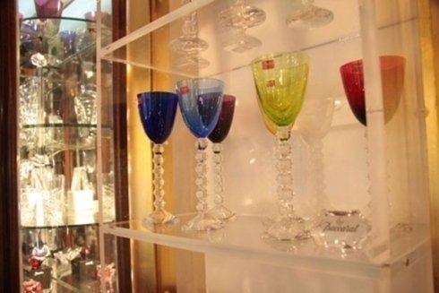 bicchieri in cristallo colorato