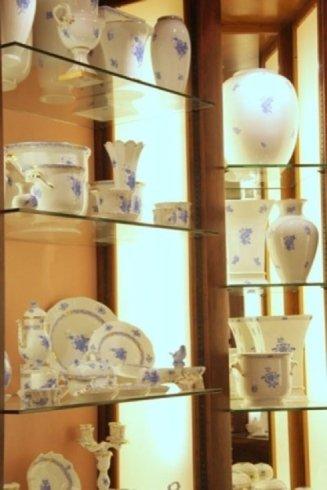 porcellane decorate azzurre