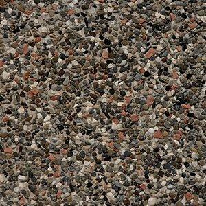 un pavimento di pietre di diversi colori