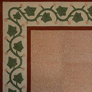 pavimento con disegni di edera verde
