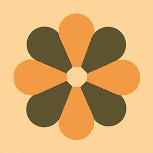 una piastrella con disegno di un fiore