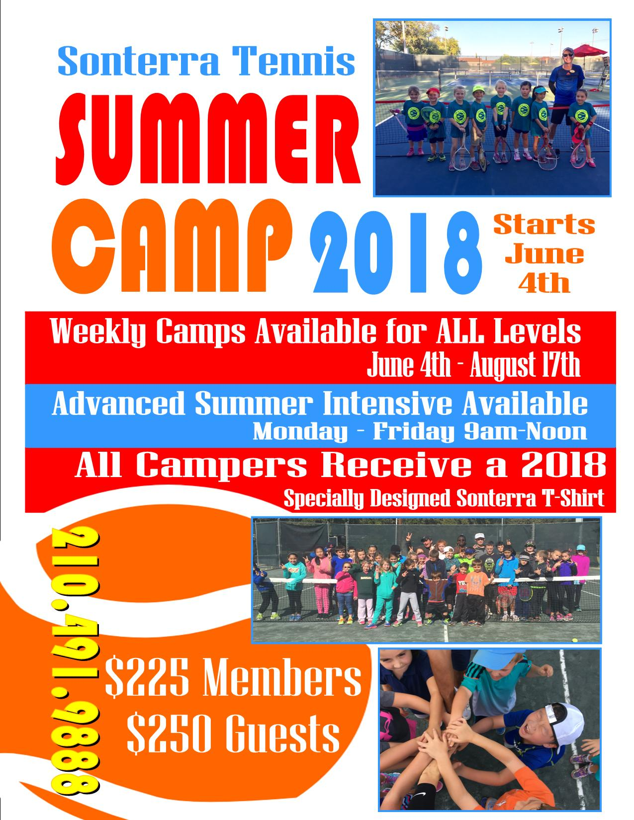 2018 Summer Tennis Camp