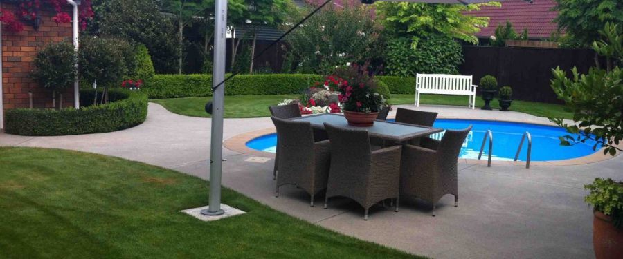 Landscaped garden maintained by our grass cutting experts in Hamilton
