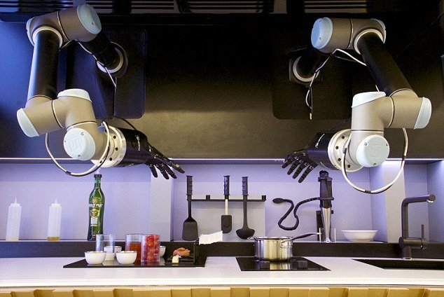 Robotic Chef Hands In The Kitchen