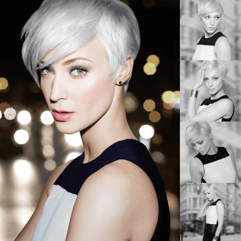 Model's hair styling
