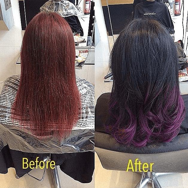 stunning hair transformation