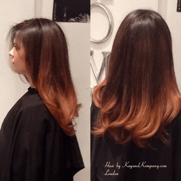 hair extension and colouring