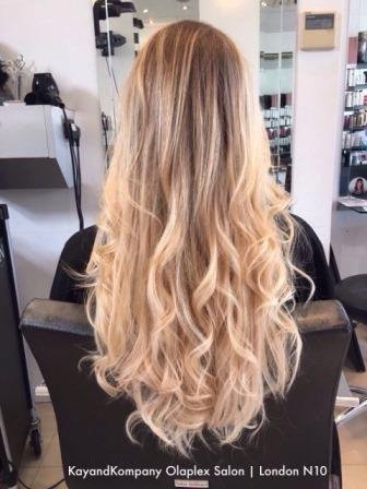 olaplex balayage blonde haircolour ombre hair long hair transformations kayandkompany salon hairdressers muswellhill london n10