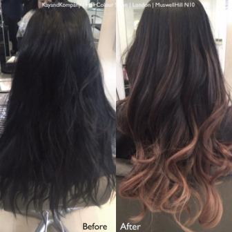 ombre hair long hair transformations kayandkompany salon hairdressers muswellhill london n10
