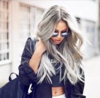 Stunning grey hair olaplex ombre hair long hair transformations kayandkompany salon hairdressers muswellhill london n10