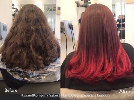 ombre hair long haircolour experts transformations kayandkompany salon hairdressers muswellhill london n10