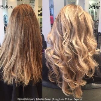 olaplex ombre hair long hair transformations kayandkompany salon hairdressers muswellhill london n10