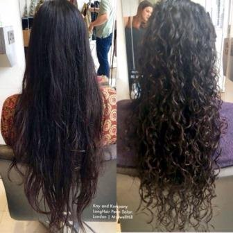 Hair perm, curly hair salons, curls, wavy hair, long hair, perm hair, kayandkompany perm salons in muswellhill, London n10, n22, north london salon perms hairdressers, perming salons