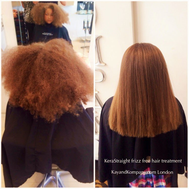 Kerastraight frizzy hair Brazilian blow out-Keratin hair treatments at kay and kompany salons in london n10 muswell hill
