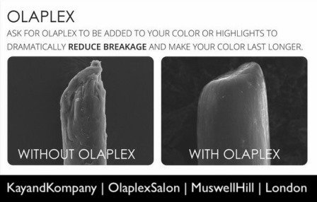 Olaplex hair salon kay and kompany, olaplex hair salons and olaplex hairdressers in Muswell Hill London, olaplex Haringey, Hampstead, Barnet and Enfield