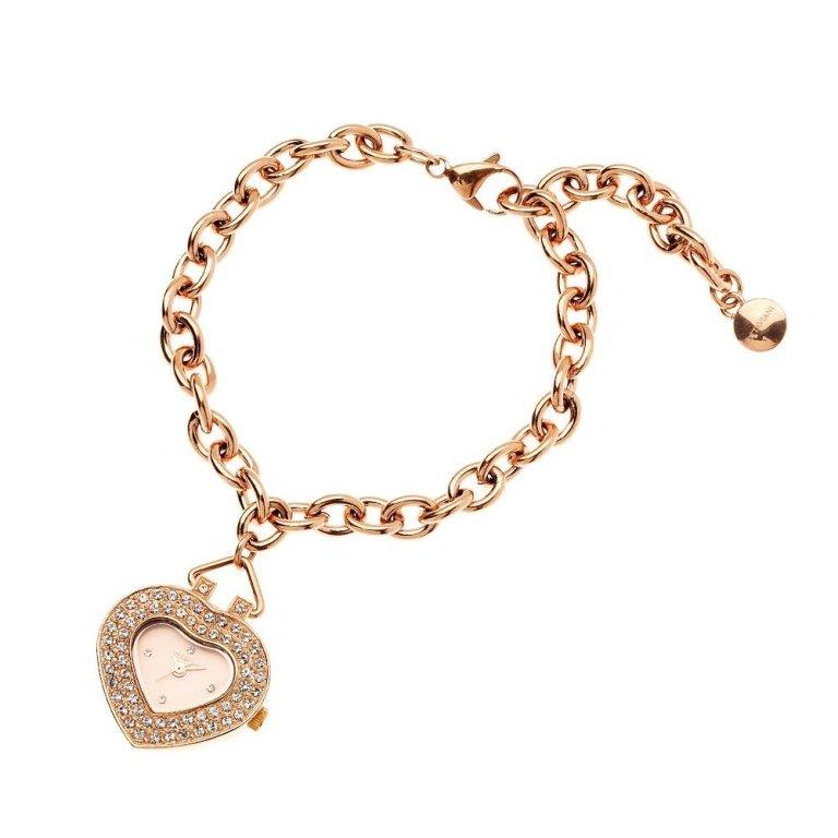 Orologio quarzo cuore con bracciale rose gold, Ottaviani - 15134