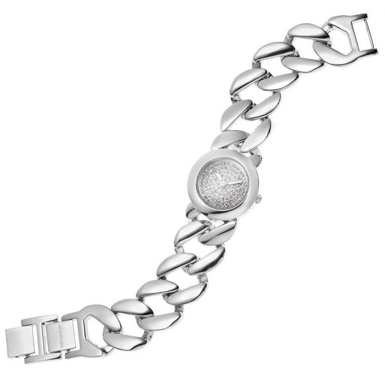 Orologio quarzo con cristalli e bracciale catena, Ottaviani - 15223