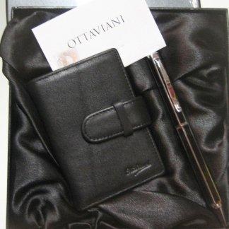 Agenda in pelle con penna Ottaviani