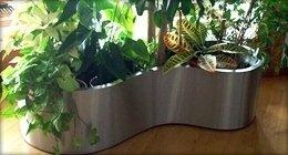 steel flowerpot