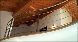 curved steel railings