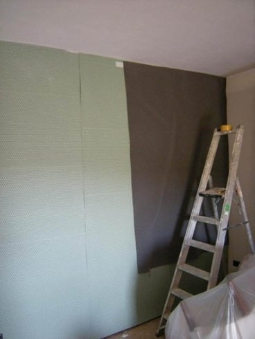 posa parete materiale fonoimpedente