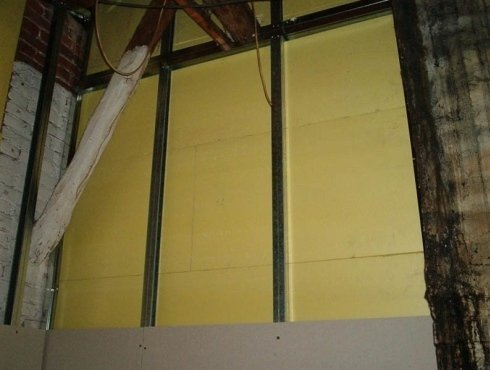 parete interna coibentata con cartongesso