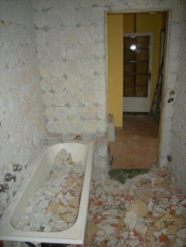 demolizione bagno e rimozione vasca