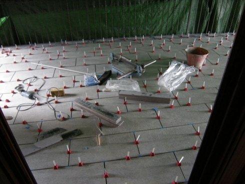 posa pavimentazione terrazzo a mattone