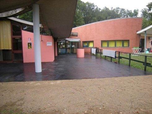 pavimentazioni in gomma a bolli
